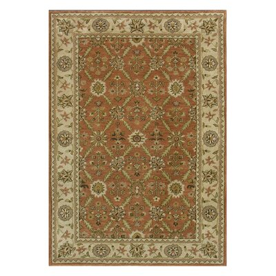 Charisma Tufted Wool Rust/Ivory Area Rug Rug Size: Rectangle 5 x 8