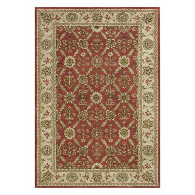 Charisma Red / Ivory Area Rug Rug Size: Rectangle 96 x 136
