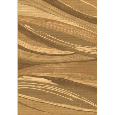 Eclipse Beige Area Rug Rug Size: Rectangle 53 x 77