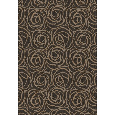 Eclipse Black/Brown Floral Area Rug