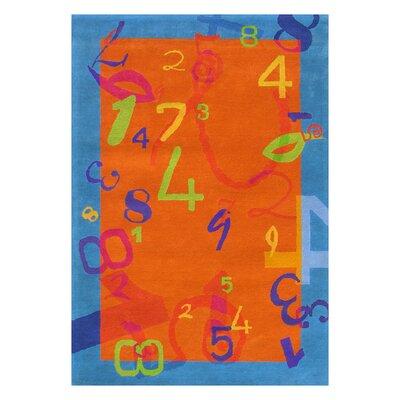 "Dynamic Rugs Fantasia Number Orange/Blue Kids Rug - Size: 7'6"" x 9'10"" at Sears.com"