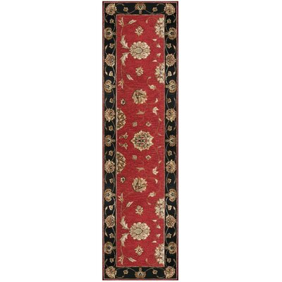 Jewel Red/Black Rug Rug Size: Runner 22 x 8