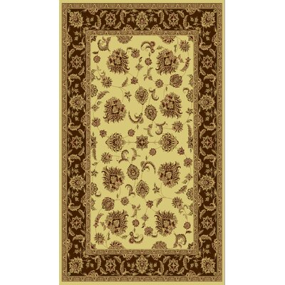 Legacy Cream/Brown Rug Rug Size: Rectangle 53 x 77