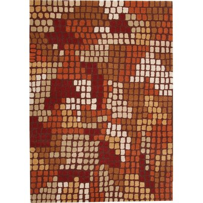 Odyssey Red Rug Rug Size: Rectangle 4 x 6