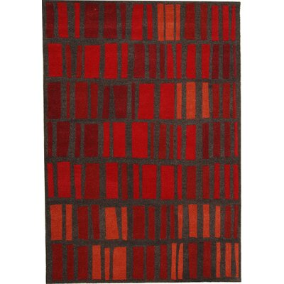 Odyssey Red Stripe Rug Rug Size: Rectangle 8 x 11