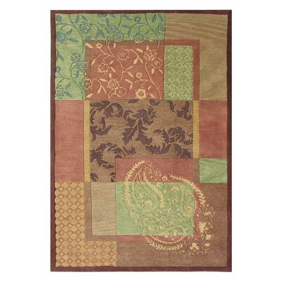 Vision Red Multi Rug Rug Size: Rectangle 4 x 6