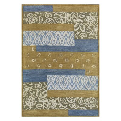 Vision Mix Blue Striped Rug Rug Size: Rectangle 4 x 6