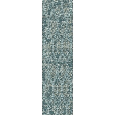 Kingston Dark Blue Area Rug Rug Size: 53 x 78