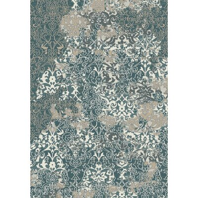 Kingston Dark Blue Area Rug Rug Size: 71 x 101