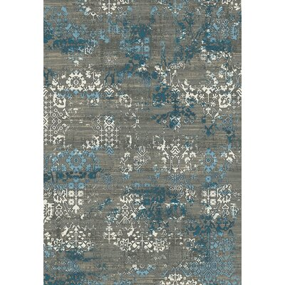 Kingston Grey Area Rug Rug Size: 92 x 121