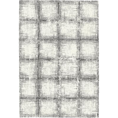 Mehari Black / White Area Rug Rug Size: Rectangle 53 x 77