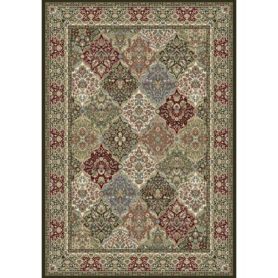 Ancient Garden Area Rug Rug Size: 53 x 77
