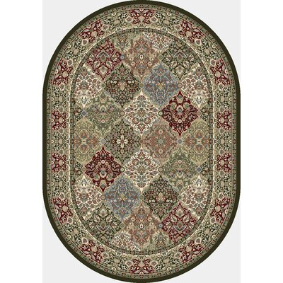 Ancient Garden Area Rug Rug Size: Oval 53 x 77