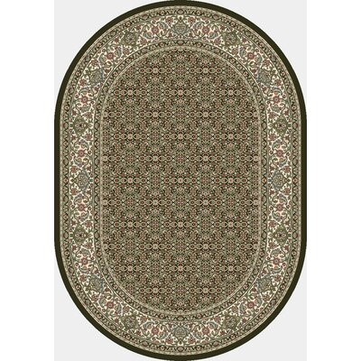 Ancient Garden Black Area Rug Rug Size: Oval 53 x 77