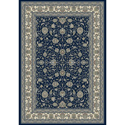 Attell Navy Area Rug Rug Size: Rectangle 53 x 77