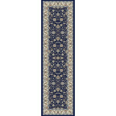 Ancient Garden Navy Area Rug Rug Size: Runner 22 x 11