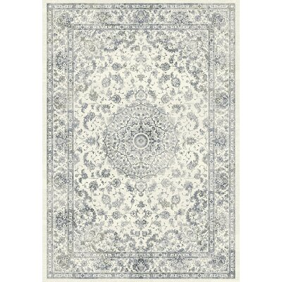 Ancient Garden Cream Area Rug Rug Size: 53 x 77