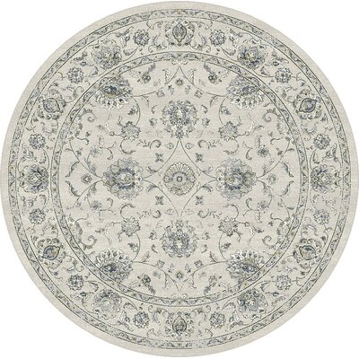 Ancient Garden Cream Area Rug Rug Size: Round 53