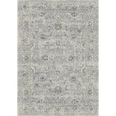 Attell Oval Silver/Gray Area Rug Rug Size: Rectangle 92 x 1210