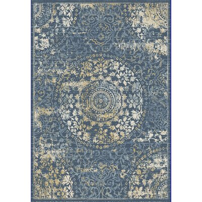 Essence Dark Blue Area Rug Rug Size: 53 x 77