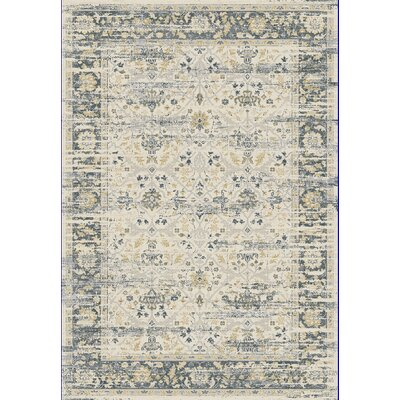 Essence Ivory/Gray Area Rug Rug Size: 53 x 77