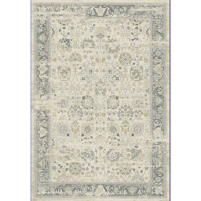 Essence Ivory/Light Gray Area Rug Rug Size: 53 x 77