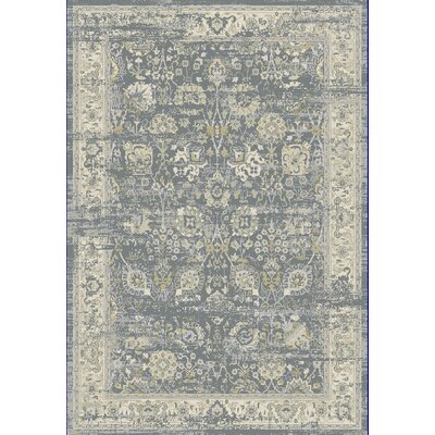 Essence Light Gray/Ivory Area Rug Rug Size: Rectangle 67 x 96