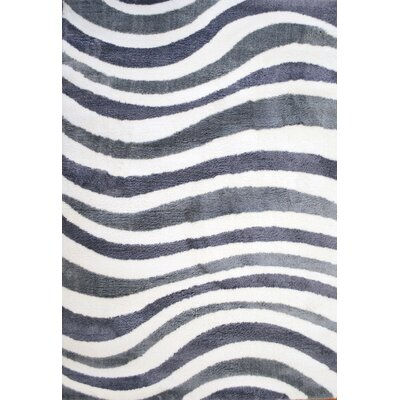 White/Gray Area Rug Rug Size: Rectangle 7'10