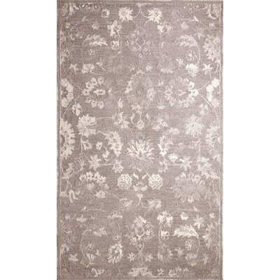 Avalon Hand-Tufted Silver/Ivory Area Rug Rug Size: Rectangle 92 x 126