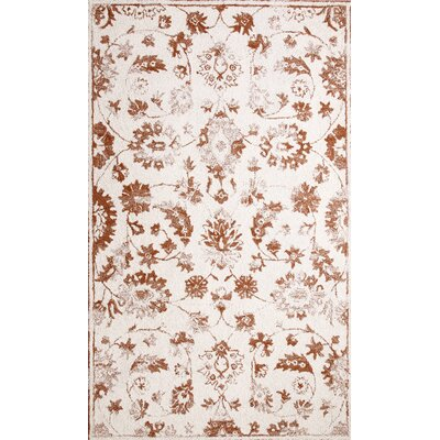 Avalon Hand-Tufted Ivory/Rust Area Rug Rug Size: Rectangle 33 x 53
