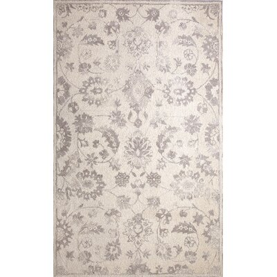 Montoya Hand-Tufted Ivory/Silver Area Rug Rug Size: Rectangle 92 x 126