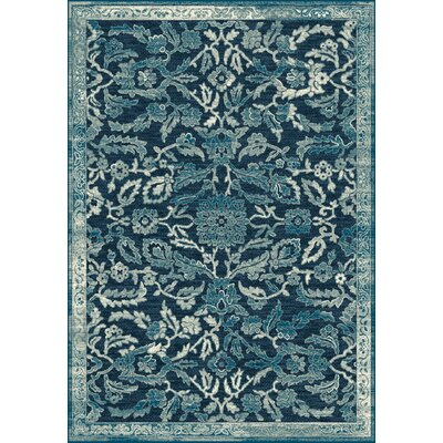 Genova Blue Area Rug Rug Size: Rectangle 53 x 77