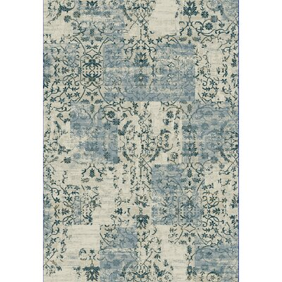 Quartz Blue/Beige Area Rug Rug Size: Rectangle 53 x 77