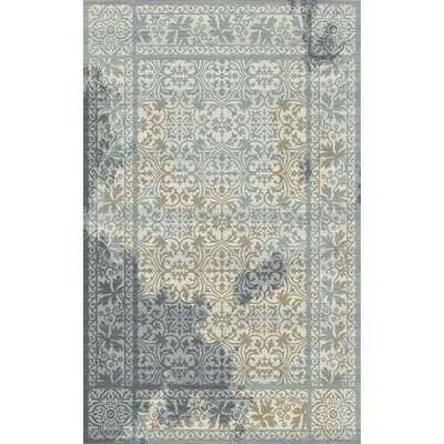 Royal Treasure Gray/Blue Area Rug Rug Size: Rectangle 53 x 77