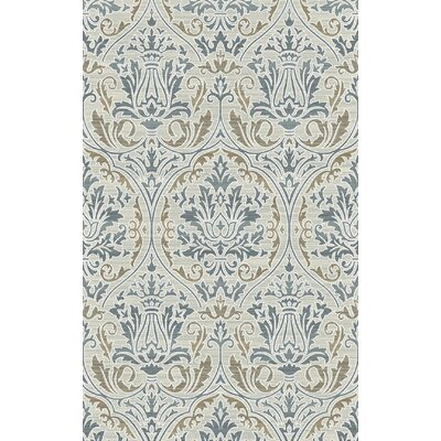 Royal Treasure Blue/Mocha Area Rug Rug Size: Rectangle 36 x 56