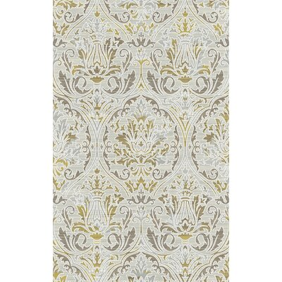 Royal Treasure Amber/Mocha Area Rug Rug Size: 92 x 1210