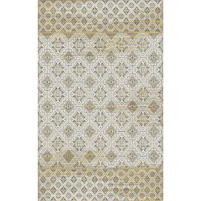 Royal Treasure Amber/Mocha Area Rug Rug Size: Rectangle 36 x 56