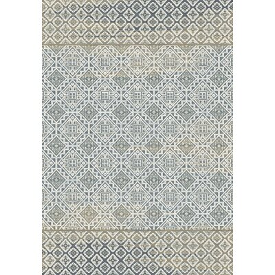 Royal Treasure Blue/Mocha Area Rug Rug Size: Rectangle 2 x 35