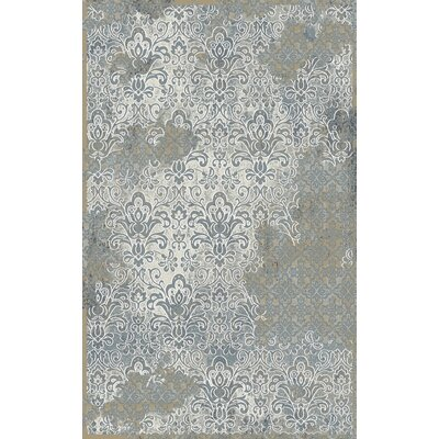 Royal Treasure Gray/Beige Area Rug Rug Size: 36 x 56
