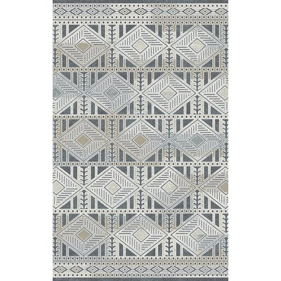 Royal Treasure Gray Area Rug Rug Size: 67 x 96