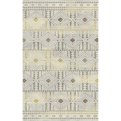 Royal Treasure Gray Area Rug Rug Size: 53 x 77