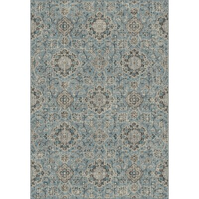 Carnbore Blue/Taupe Area Rug Rug Size: Rectangle 36 x 56