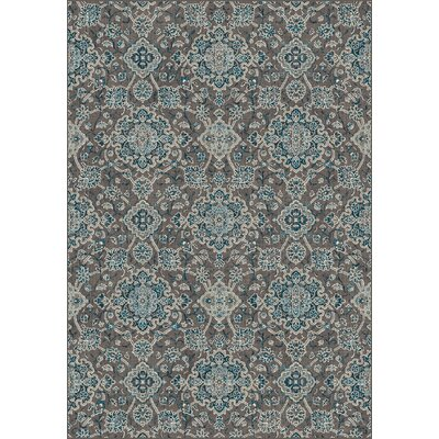 Regal Blue/Chocolate Area Rug Rug Size: Rectangle 67 x 96
