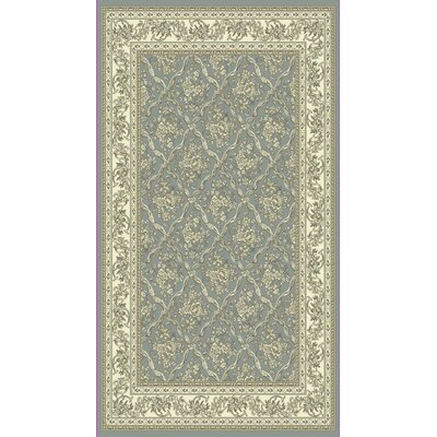 Legacy Light Blue/Ivory Area Rug Rug Size: Rectangle 6'7