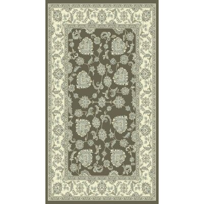 Legacy Dark Gray/Ivory Area Rug Rug Size: Rectangle 53 x 77