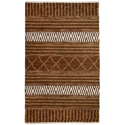 Heriloom Hand-Woven Gold/Ivory Area Rug Rug Size: Rectangle 2 x 4
