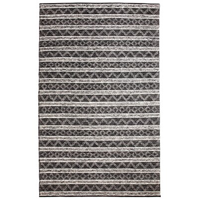 Heirloom Hand-Woven Charcoal/Silver Area Rug Rug Size: 5 x 8