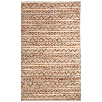 Heirloom Hand-Woven Ivory Area Rug Rug Size: 5 x 8