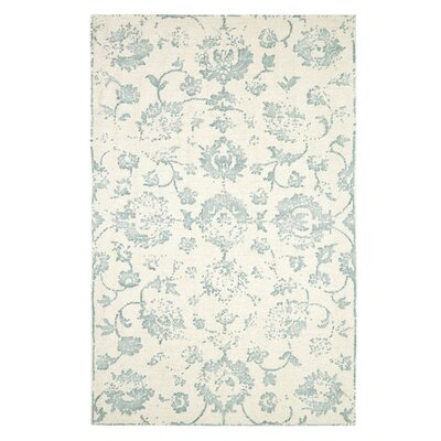 Gerry Hand-Woven Beige/Green Area Rug Rug Size: Rectangle 5 x 8