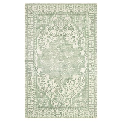 Anamaria Hand-Woven Green Area Rug Rug Size: Rectangle 8 x 11